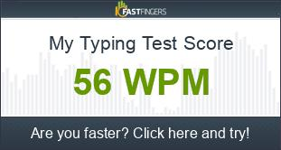 How fast do ya type? 1_wpm_score_BE