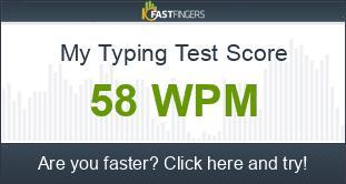 Typing Test Score