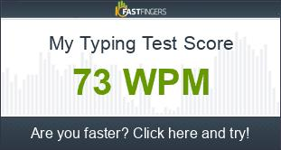 How fast do ya type? 1_wpm_score_BV