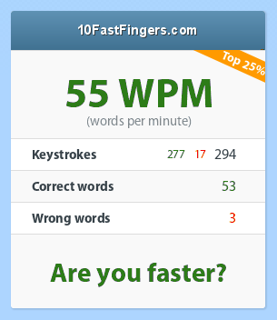 not really faster.